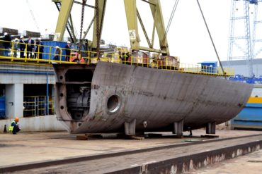 Keel block laid for a new mega yacht
